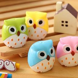 Mini Cute Lovely Owl Pattern Pencil Sharpener School Kid's F