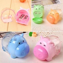 Mini Lovely Cute Pig Mouth Pencil Sharpener For Student Kids