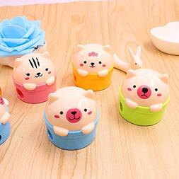 DealG 2 PCS/lot Mini piggy Learning Stationery Pencil Sharpe