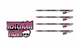 "4-Pack Monster High 15"" Jumbo Pencil with Pencil Sharpener S"