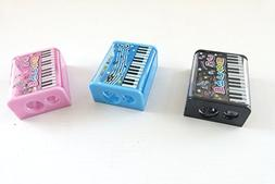 Music themed 3 pieces Piano Musical Notes Design 2 Hole Blad