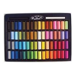 Non Toxic Soft Pastel Set of 64 Assorted Colors Square Chalk