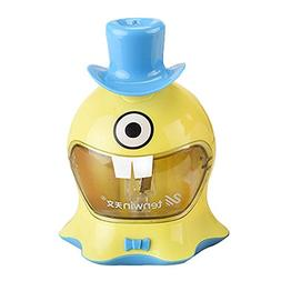 Novelty Battery Operated Pencil Sharpener for Kids, Cute Aut
