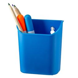 Officemate Octoorg Pencil Cup with Suction Cups, Blue