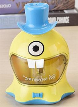 Fishinnen Desktop Sharpener 1Pc Cute Hat Electric Single Hol