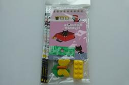 Party Bag Stationery Set - Black Cat Red Bag Notebook with p