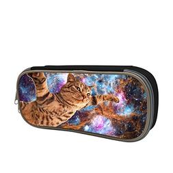 Pencil Case, Funny Cat Flying 3D Printed Fashion Big Capacit