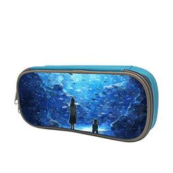 Pencil Case Anime Aquarium Big Capacity Pen Case Stationery