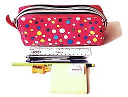 Pencil Case Set/Makeup Pouch – 8 Pieces Stationery Set