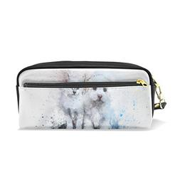 DNOVING Pencil Case Stylish Print Cat Dog Cute Art Abstract