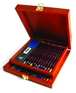 Derwent Colored Pencil Collection, Wooden Box, 32 Count
