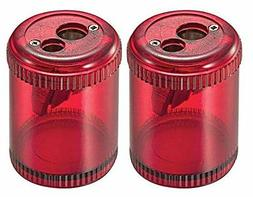 Pencil/Crayon Sharpener, Twin, Red