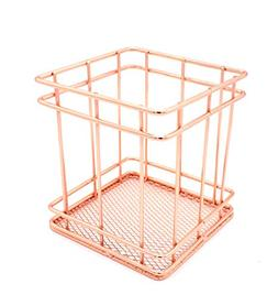 Hillento Pencil Holder, Metal Pen Pencil Holder, Rose Gold P