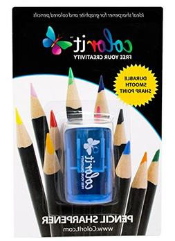 Travel Pencil Sharpener by ColorIt - Pocket-sized and Stores