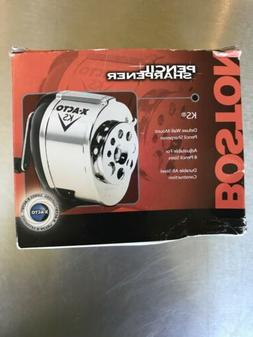 Pencil Sharpener Boston Manual Table Wall Mount Chrome Schoo