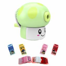 Pencil Sharpener so cute and 4 Pack of Erasers in Cases with
