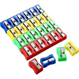 Boao 48 Pieces Pencil Sharpeners Plastic Handheld Pencil Sha