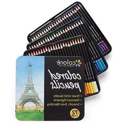 Colore Colored Pencils 72 Premium Pre Sharpened Color Pencil