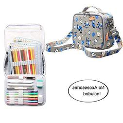 Teamoy Colored Pencils Case, Travel Gadget Bag with Handle a