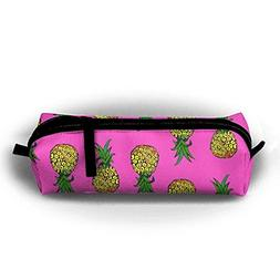 Pineapple Party On Pink Pencil Pen Case Bag Stationery Pouch