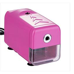 Baidecor Pink ABS Plastic Electric Pencil Sharpener