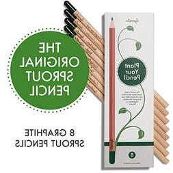 Sprout plantable graphite pencils with seeds in eco friendly