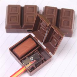 plastic cute chocolate color shape school office stationery