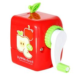 Pencil Sharpener Portable Red Apple Shape Series Sharpen Pen