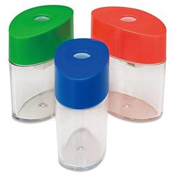 Integra Plastic Sharpener, Oval, 2-1/8-Inch, Assorted