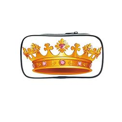 Polychromatic OptionalPen Bag,Queen,Cartoon Style Cute Pink