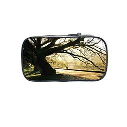 Polychromatic OptionalPen Bag,Tree,Bullfinches on Trees in W