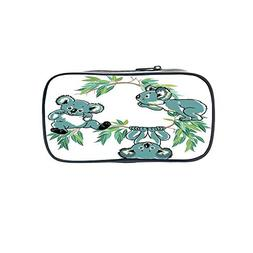 Polychromatic OptionalPen Bag,Tropical Animals,Different Typ