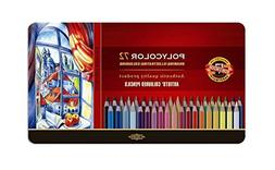 Koh-I-Noor Polycolor Drawing Pencil Set, 72 Assorted Colored