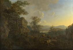 The Polyster Canvas Of Oil Painting 'Jan Both A Rocky Landsc