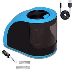 iSeaFly Portable Electric Pencil Sharpener, USB or Battery O