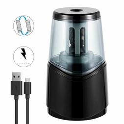 Portable Quiet Electric Pencil Sharpener Auto Stop Fastly Sh