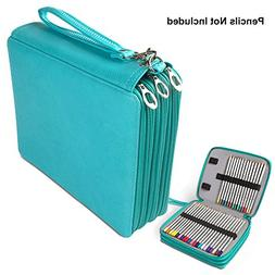 PU Leather Pencil Case, STARVAST 124 Slots Handy Pencil Bags