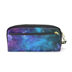 ShineSnow Purple Green Galaxy Pencil Case Pen Zipper Bag Coi