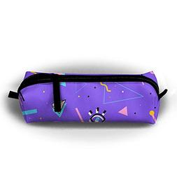Purple Triangle Pencil Bag For Kid Boys Children Teens Pen H
