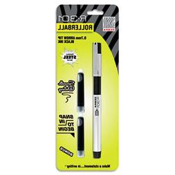 R-301 Roller Ball Pen, Black Ink, Medium, 0.70 mm, Free Refi