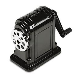 X-ACTO Counter-Mount/Wall-Mount Manual Pencil Sharpener, Bla