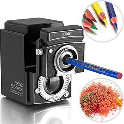 Deli Retro Camera Manual Pencil Sharpener Hand-Cranking for
