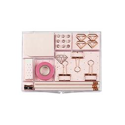 Rose Gold Stationery Gift Kit School Office Supplies Station
