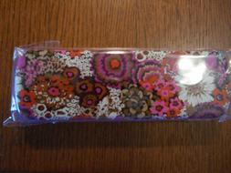 VERA BRADLEY ROSEWOOD Pencil Set With Tin Ten Pencils Pencil