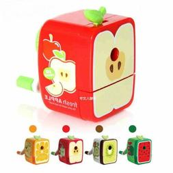 Rotary Colorful Pencil Sharpener Hand Crank Manual School St