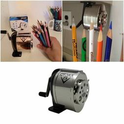 School Manual Hand Crank Desk Wall Mount Pencil Sharpener Si