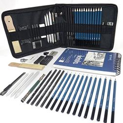 Professional Art Set - Drawing, Sketching and Charcoal Penci