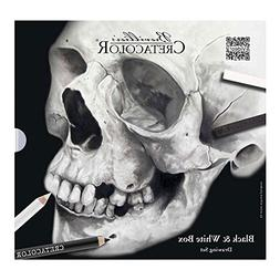 Skull Edition Black and White Drawing Tin Set by Cretacolor,