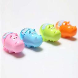 Stationery Hippo Pencil Sharpener with Two Rubbers Eraser St