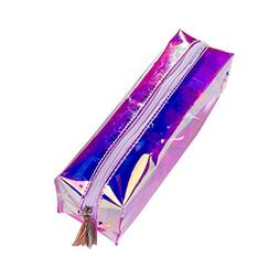 TOOGOO Students Holographic Pencil Case Holder Tassels Stati